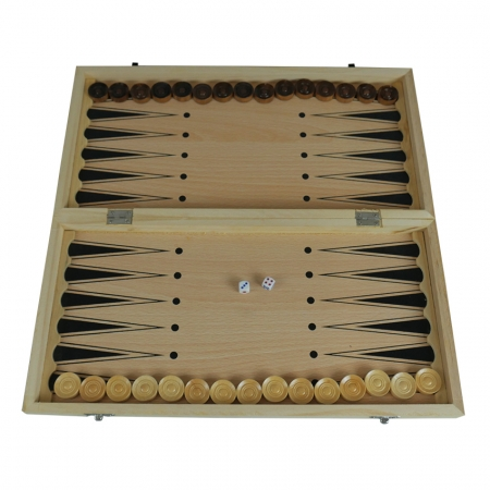Нарды 24 х 24 см, бамбук (пр-во Китай)