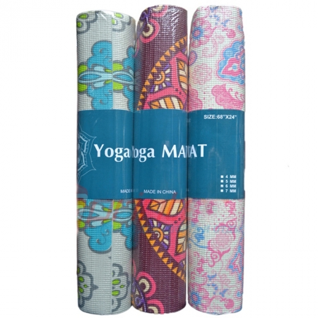 Коврик для фитнеса COLOR Yoga mat PVC 6 мм (173 x 61 см)
