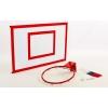 Щит баскетбольный с кольцом и сеткой усиленный UR LA-6299 (щит-металл,р-р 120x90см, кольцо d-45см)