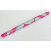Коврик для йоги круглый замша, каучук 3мм двухслойный с сумкой FI-6218-4 (d-150см, розовый-голубой)