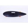 Лонгборд круизер пластиковый Penny 36in дека с отверстием SK-5563-3 (PU, р-р 93x23см, черный-оранж)