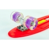 Скейтборд пластиковый Penny LED WHEELS 22in со светящимися колесами SK-5672-8 (арбуз-фиолетовый)