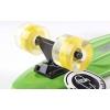 Скейтборд пластиковый Penny LED WHEELS FISH 22in со светящимися колесами SK-405-8 (салат-чер-желтый)