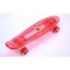 Скейтборд пластиковый Penny LUMINOUS LED 22in прозрачная светящаяся дека колесо LED SK-5357-4 (крас)