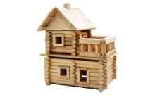 Деревянный конструктор Усадьба, 130 деталей