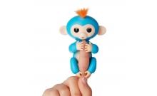 Интерактивная обезьянка на палец Fingerlings Boriz синяя