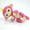 Интерактивная обезьянка Fingerlings Bella розовая