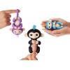 Интерактивная обезьянка на палец Fingerlings Zoe бирюзовая