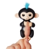 Интерактивная обезьянка Fingerlings Finn черная