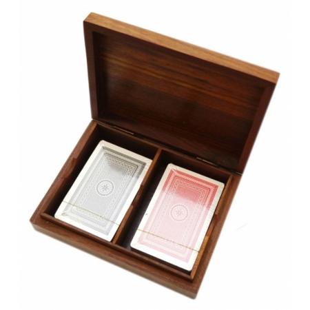 Футляр подарочный для 2 колод карт (орех)