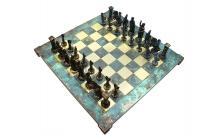 "Шахматы Manopoulos ""Греко-римские"", бирюзовые 44х44см (S11TIR)"