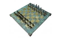 """Шахматы Manopoulos """"Кикладское искусство"""", бирюзовые 44х44см (S23BTIR)"""