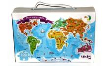 Пазл Мапа Світу