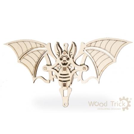 Вудик Летучая мышь - механический мини-пазл от Wood Trick
