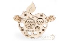 Вудик Яблоко - механический мини-пазл от Wood Trick
