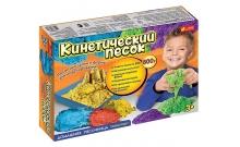 """Домашняя песочница """"Транспорт"""", кинетический песок 800 г (синий, желтый, красный, фиолетовый) RANOK"""