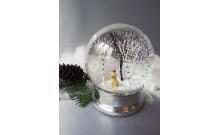 """Снежный шар """"Лабрадор в лесу"""" (стеклянный, D 10 см)"""