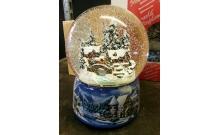 """Снежный шар """"Зимний городок"""" музыкальный, автоснег (стеклянный, D 15 см)"""