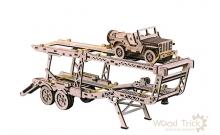 Wood Trick Прицеп автовоз - деревянный 3D конструктор