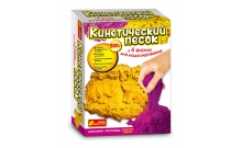 Набор кинетического песка Животные Африки сиреневый + желтый 500 г, RANOK