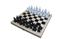 Шахматы Казаки, 36 х 36 см (доска дерево, фигуры пластик)
