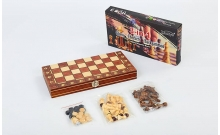 Магнитные шахматы + нарды и шашки, деревянные, 29x29 см, W7702H