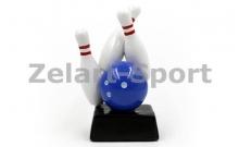 """Спортивная наградная статуэтка """"Кегли для боулинга"""" C-4270-B8"""