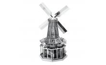 """Металлическая сборная 3D модель """"Ветряная мельница"""" реплика Metal Earth"""