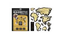 Скретч карта мира Travel Map MAGNETIC World (на англ.яз) в упаковке