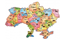 """Карта-пазл """"Історична мапа України"""""""