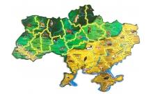 """Карта-пазл """"Флора та фауна України"""""""