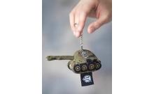 Брелок Танк плюшевый зеленый-хаки WG043322