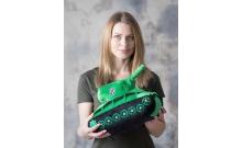 Мягкая игрушка Танк КВ-2 салатово-черный WG043325
