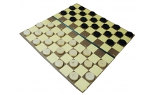 Шашки стоклеточные деревянные, поле - картон, 40x40 см