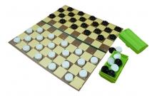 Шашки стоклеточные пластиковые, поле - картон, 40x40 см