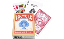 Карты Bicycle League Back Standard Index Red
