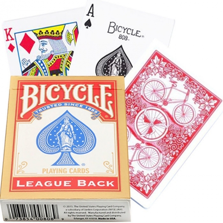 Карты Bicycle League Back Red