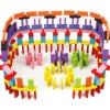 Падающее домино ралли, цветное, пластик, 200 эл
