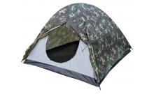 Кемпинговая палатка Treker трехместная камуфляж, двухслойная, MAT-118