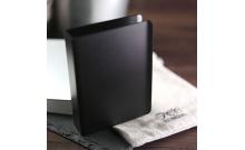 Коробочка для игральных карт TCC металлическая черная на 54 карты, кардхолдер (cardholder)