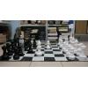 Большие садовые (уличные) шахматы СШ-12, король - 30 см, поле 140 х 140 см