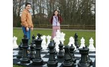 Большие садовые (уличные) шахматы пластиковые СШ-25, король 63,5 см