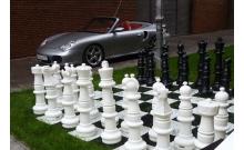 Гигантские садовые (парковые) шахматы + шашки СШ-36, король 91,5 см, пластик