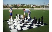 Большое сборное поле для уличных (гигантских) шахмат, шашек 300 х 300 см