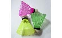 Воланчики для бадминтона нейлоновые цветные, 3 шт