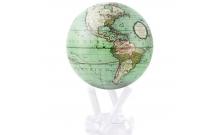"""Глобус старинная карта мира """"Terra Incognita"""" Mova Globe 114мм, светло-зеленый MG-45-GCT"""