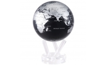 Глобус политический самовращающийся Mova Globe 153 мм, черный с серебром MG-6-SBE