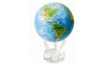 """Глобус самовращающийся сувенирный """"Физическая карта"""" Mova Globe 114мм MG-45-RBE"""