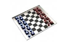 Шахматы магнитные дорожные (карманные) 16 х 17,5 см, алюминий