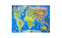 """""""Путешествуем по миру"""" - детская карта мира с картинками (укр. яз.)"""